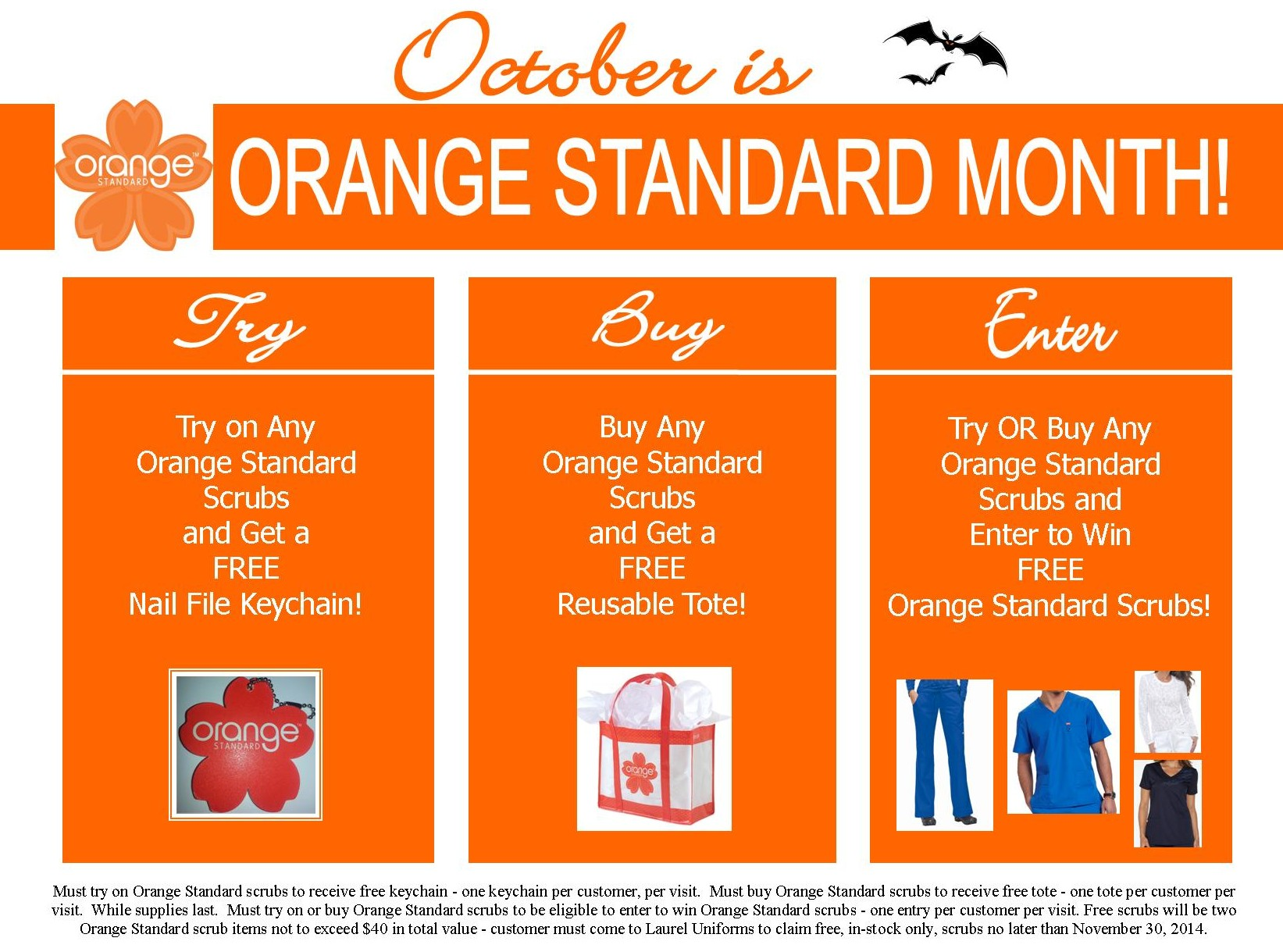 October is Orange Standard Month