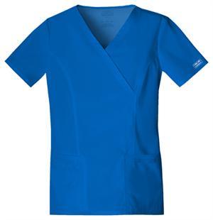 423a9e696b3 Top, Cherokee Workwear Premium Core Stretch Mock Wrap Women's ...